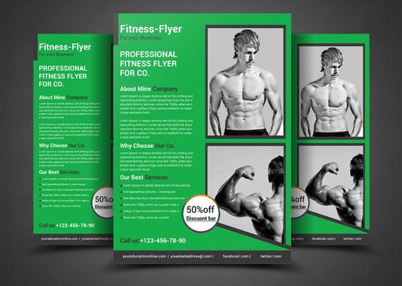 Elegant Fitness Flyer Template PSD 20+ Fitness Flyer Template - fitness flyer