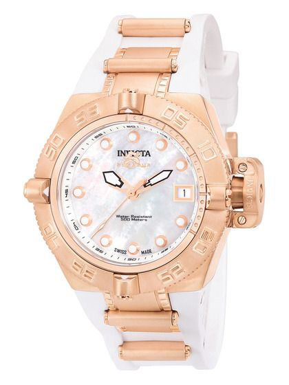 Invicta Watches Women's Subaqua IV Rose Gold & White Watch