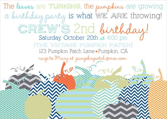 halloween party invites, pumpkin party party, pumpkin patch invites, pumpkin invites via party box design