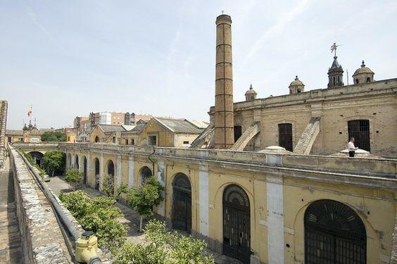 Vista general del exterior Real Fábrica de Artillería, Sevilla