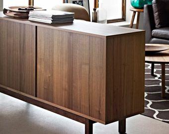 stockholm sideboard in walnut veneer by ikea center street kitchen pinterest nice. Black Bedroom Furniture Sets. Home Design Ideas