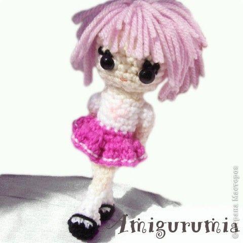 Амигуруми куколка аниме Mika Пряжа