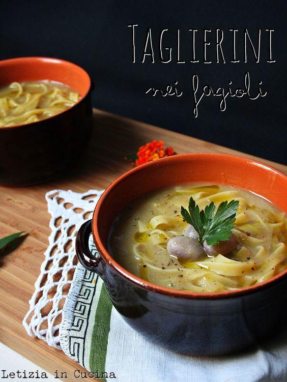 Letizia in Cucina: Taglierini nei Fagioli | pasta,minestre,supi /bg ...