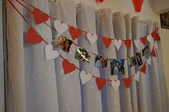#decoraçãosimples #Diy #decoraçãonoivado #vermelho #branco #cortina