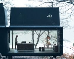 vipp's plug and play shelter serves as a comfortable retreat