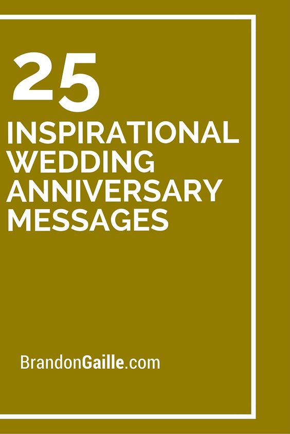Inspirational wedding anniversary messages