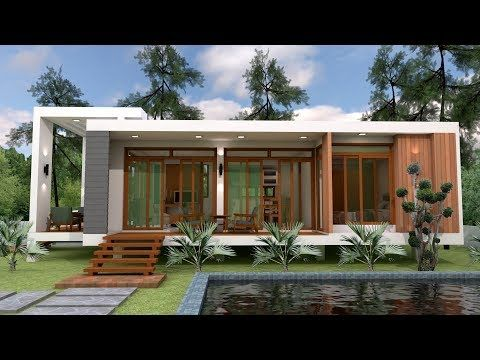 Sketchup Speed Build Home Design 7 5x12m This Villa Is Modeling By Sam Architect With 2 Stories Level House Design Small House Design Plans One Storey House