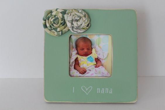 Nana Picture Frame, I Love Nana Frame, Rustic Nana Picture Frame, Grandma Photo Frame, Sage Green Frame by MyRusticPlace on Etsy