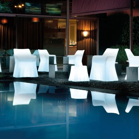 Chairs = outdoor lighting!