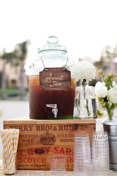 süßer Tee zur Hochzeit