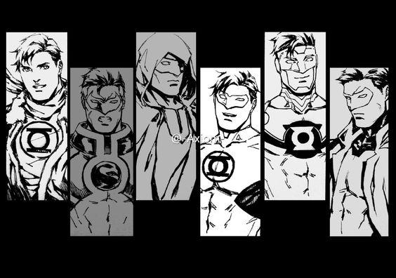 axiom-lanterns variations of Green Lantern Hal Jordan
