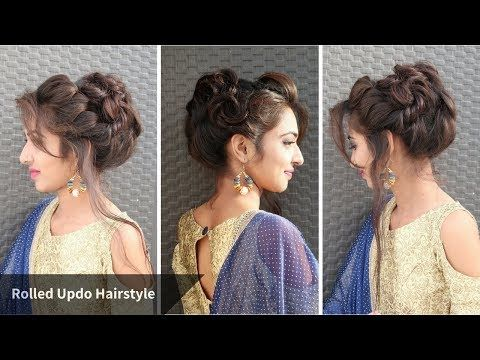 Heatless Messy Rolled Updo Hairstyle For Eid Hairstyle For Gown Sarri Youtube Hairstyle Bun Hairstyles Ponytail Hairstyles Easy