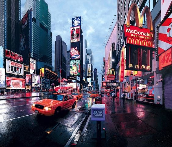Photorealist Paintings of City Scenes by Bertrand Meniel