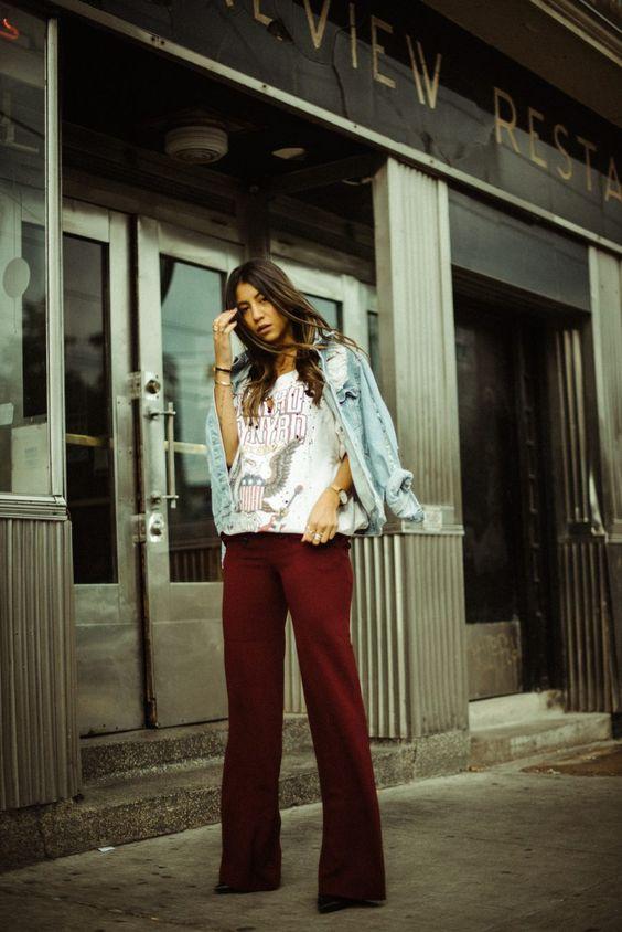 graphic tee denim jacket girl blogger not your standard fashion blog streetstyle photography lynard skynyrd band