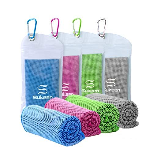 4 Pack Cooling Towel 40 X12 Ice Towel Soft Breathable Chilly