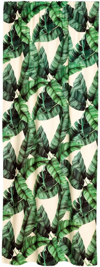 Green Banana Leaf Grommet Outdoor Curtain | Loom Decor | Ma Maison ...