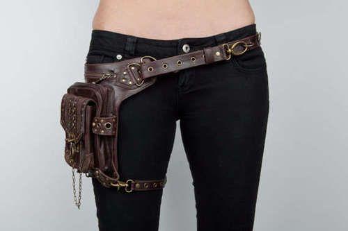 Steampunk holster purse