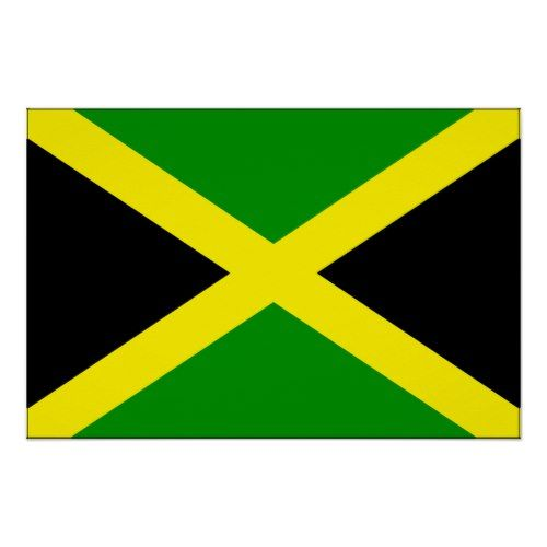 Jamaica Flag Poster Zazzle Com Jamaica Flag Jamaica Poster