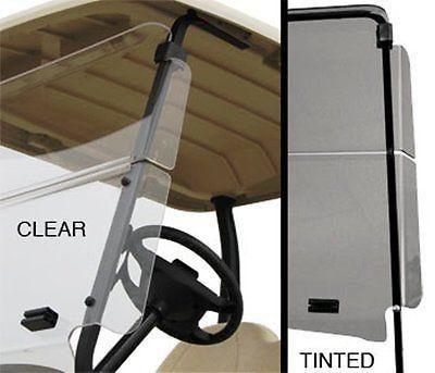 EZGO TXT Golf Cart Winged Flip Windshield for Wind Protection - WHEELZ Custom…