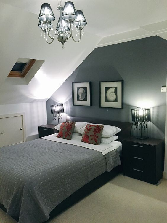 Farrow ball mole 39 s breath accent wall paint bedroom in london flat by for Bedroom wall paint ideas pinterest
