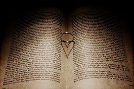 Coração, Livro, Leitura, Amor, Páginas