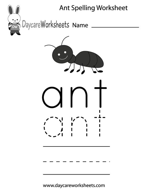 Learn and practice how to spell the word ant using this printable ...