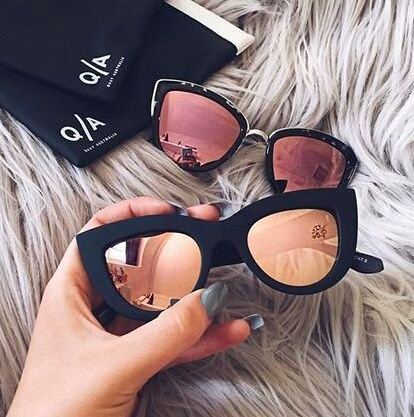 sunglasses, girl, and glasses image
