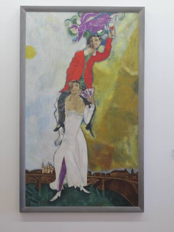 I adore the art of Marc Chagall--here is one of his paintings at the Centre Pompidou. He also painted the ceiling at the Opéra Garnier.