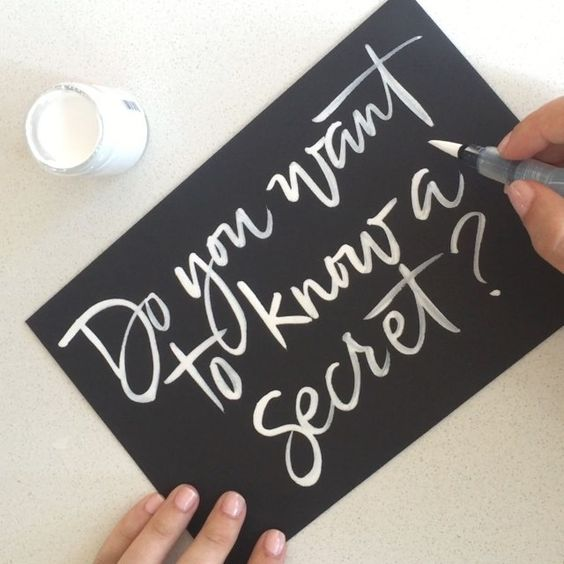 I have one...and no, I'm not pregnant again!  #calligraphy #brushlettering | Anne Robin Calligraphy // Save the Date idea?