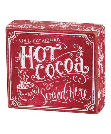 Another great find on #zulily! Chalk 'Hot Cocoa' Box Sign #zulilyfinds