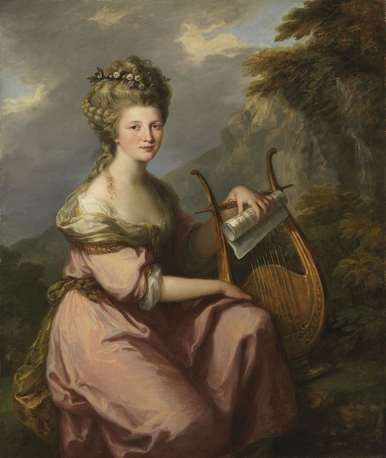 Angelica Kauffmann. Portrait of Sarah Harrop (Mrs. Bates) as a Muse. ca. 1780 - 1781