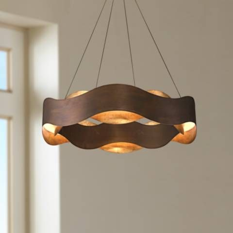 Eurofase Vaughan 24 Wide Bronze Led Pendant Light 35c07 Lamps Plus Einrichtung