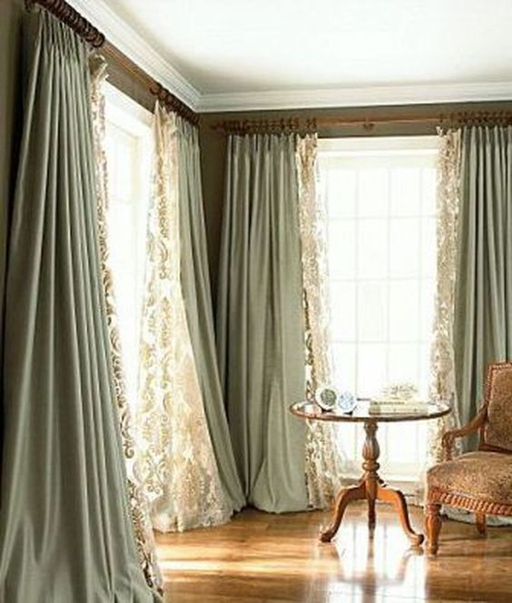 55 Incredible Family Room Curtain Ideas Dizajn Okna Interer