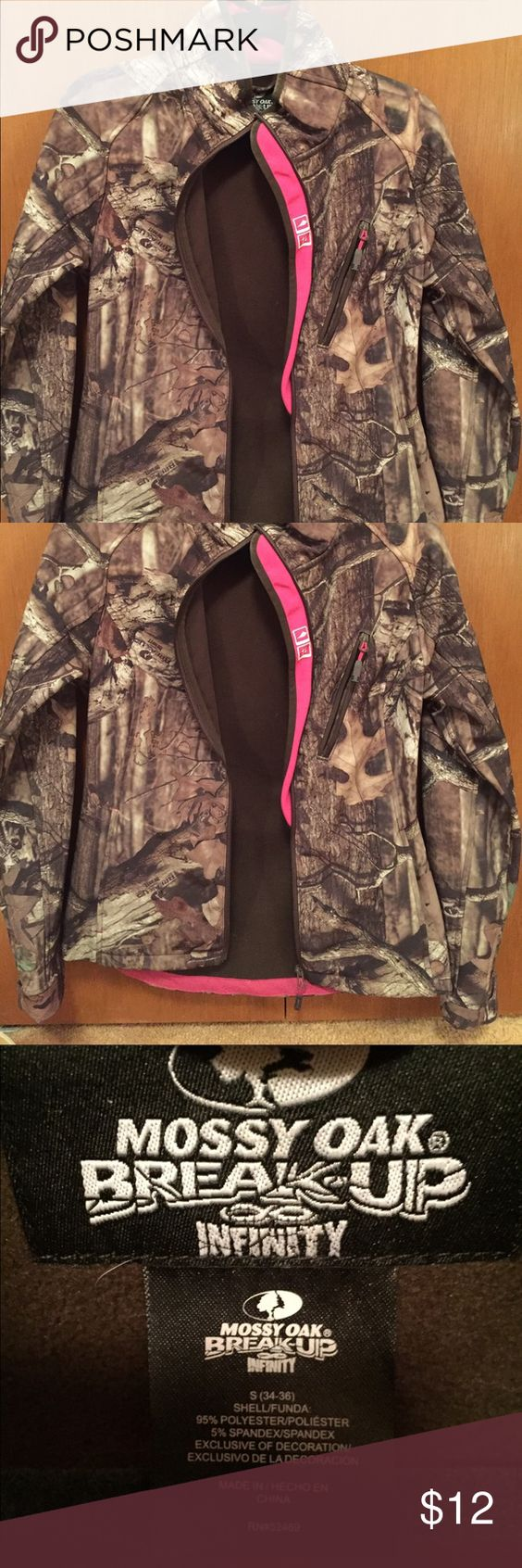 Hunting Jacket Only worn once, great camouflage jacket. Has a nice fitted look for women. mossy oak Jackets & Coats