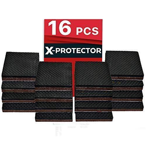 X Protector Non Slip Furniture Pads A Premium 16 Pcs 2a Furniture Grippers Best Selfadhesive Ru Furniture Pads Skid Furniture Furniture Grippers