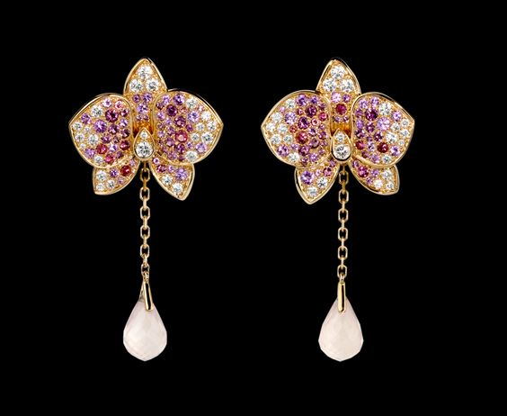 Boucles d'oreilles Caresse d'Orchidées. Cartier, Paris, FR. Who wants to buy these for me?!