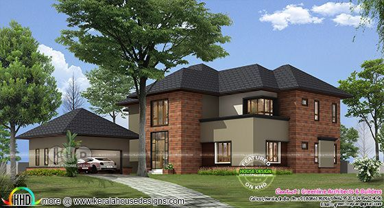 Proposed House At Kenya By Greenline Architects Kerala Home Design Kerala House Design Kerala Houses House Design