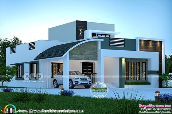 3 Bhk 2300 Sq Ft Beautiful Mixed Roof Modern Home Design Kerala Home Design And Floor Plans In 2020 Kerala House Design Small House Elevation Design Modern Bungalow House