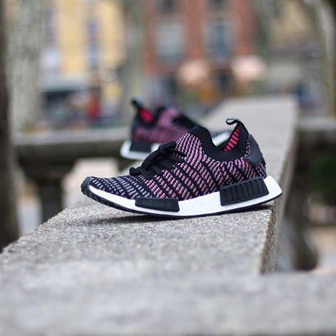 Adidas NMD_R1 STLT PK Black & Solar Pink | END.