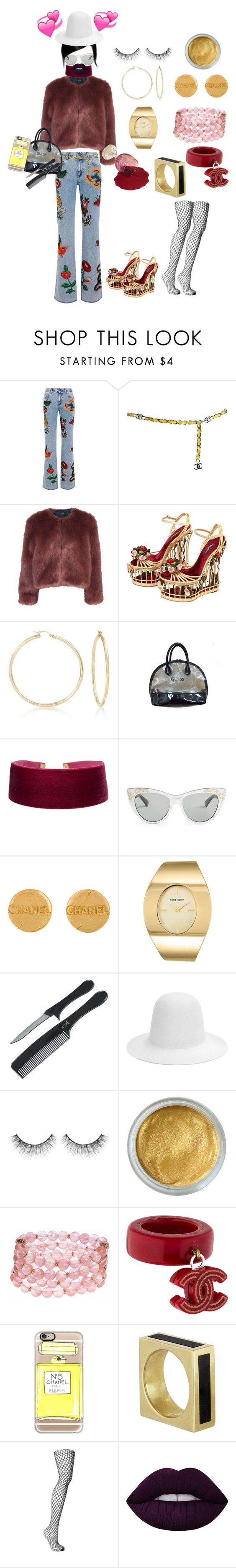 """""""HEARTBROKEN."""" by allen-taevon ❤ liked on Polyvore featuring Gucci, Chanel, Stine Goya, Dolce&Gabbana, Ross-Simons, GUESS, Anne Klein, Sephora Collection, Lonna & Lilly and Casetify"""
