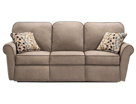 Jenna Collection Taupe Reclining Sofa Slumberland Lazy