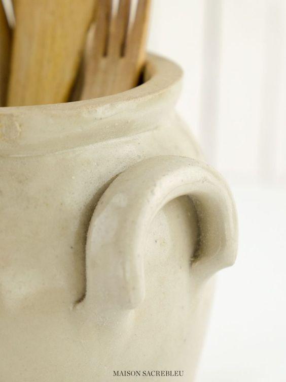Maison Sacrebleu French Antique Confit Jar