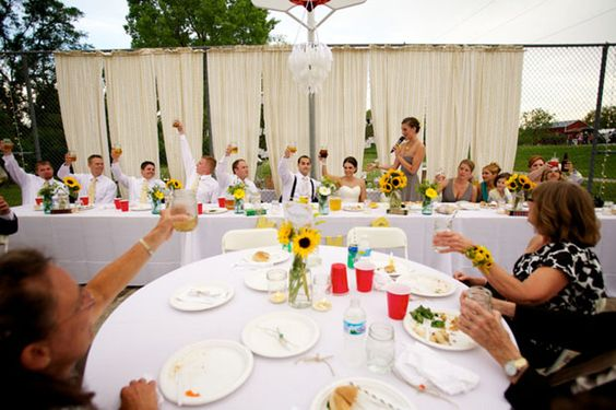 Curtains for outdoor weddings