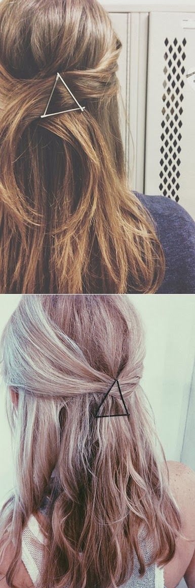 29 Hairstyling tricks Every Girl Should Know - Use your bobby pins as graphic hair accessories