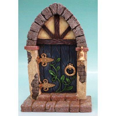 Fairy Mini Garden Door with Bell and Vines | Wayfair