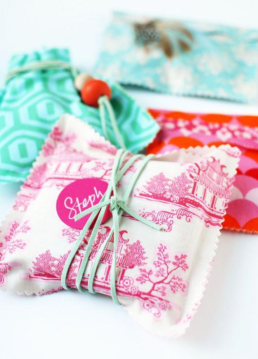 Make Me: Fabric Gift Bags decor8blog.com/...