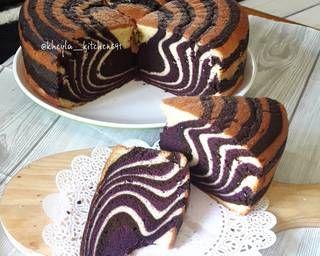 Resep Zebra Cake Putih Telur Super Rekomend Oleh Kheyla S Kitchen Cookpad Kue Zebra Resep Masakan Natal Resep