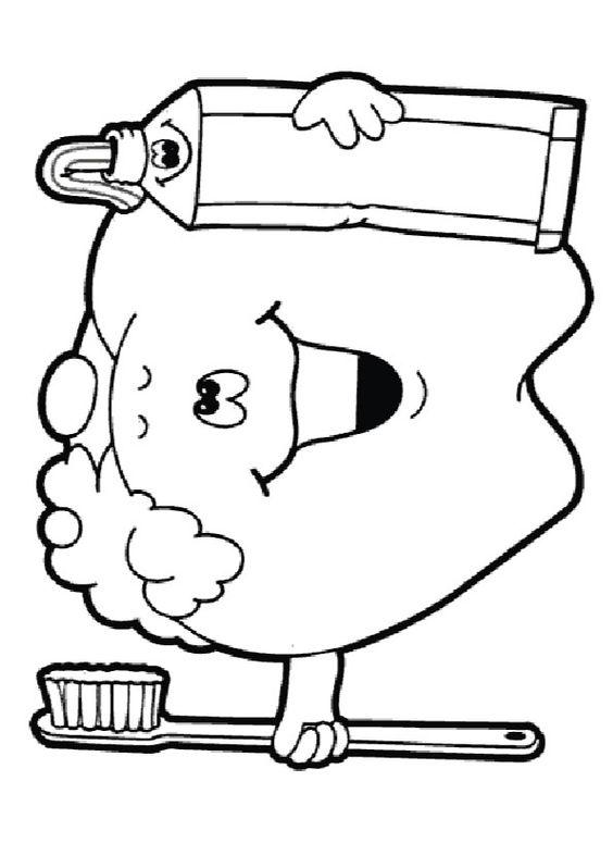 Dental Coloring Pages For Kindergarten : Best images about dental coloring pages on pinterest