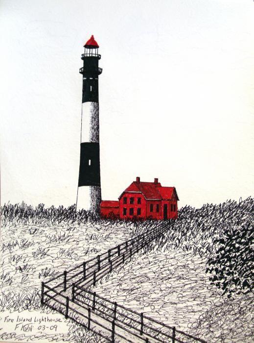 Fire Island Lighthouse illustration
