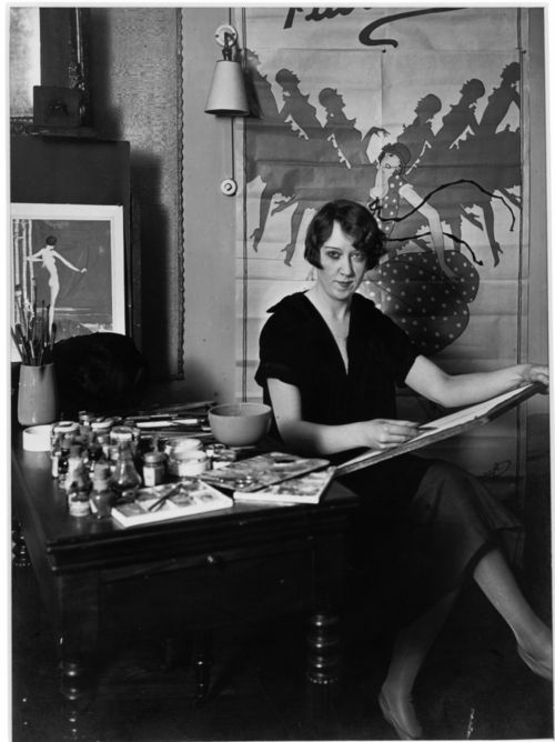 """""""Gordon Conway, a Dallas debutante who, at 20, moved to New York and found work as a magazine illustrator, lived the life and promoted the image of the flapper. Her love of parties and fashionable clothes was matched by her drive to succeed in her career. Her later work in theater and film costume design earned her a large salary and an executive position that was unprecedented for women."""""""